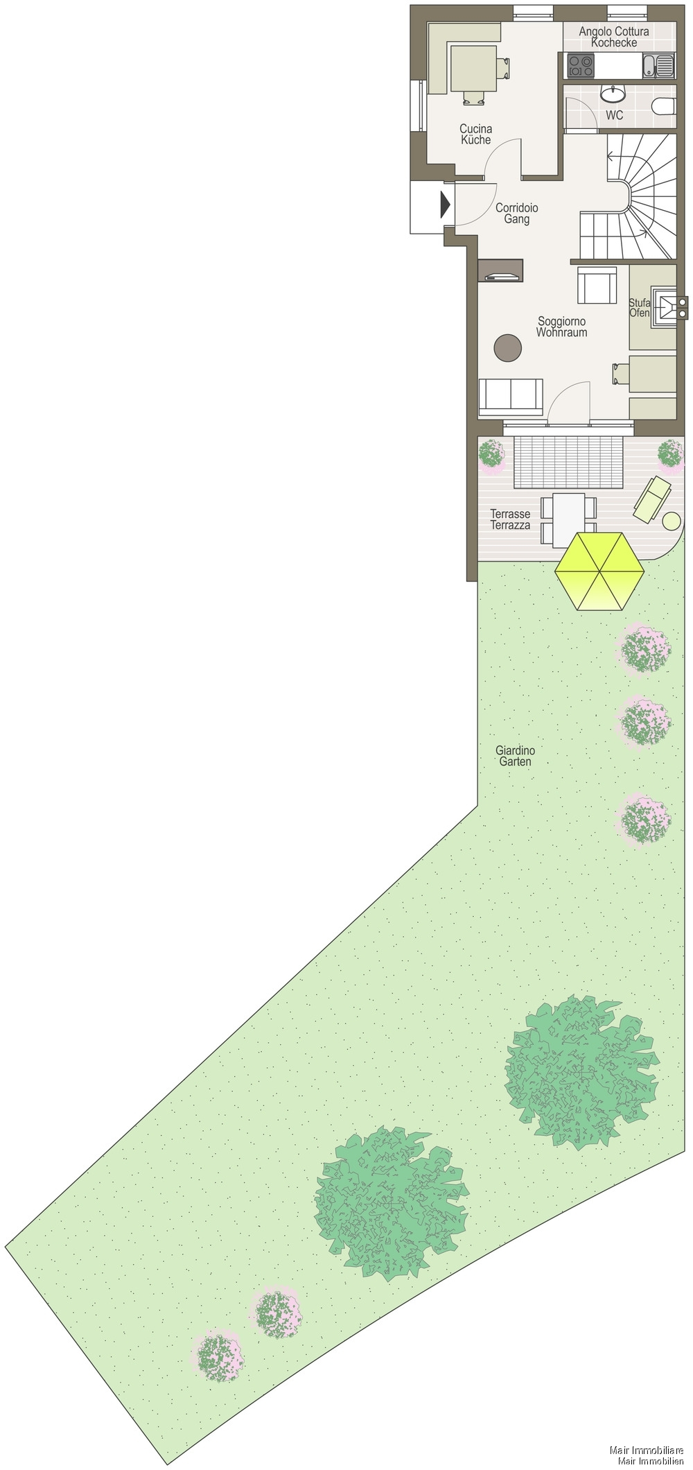 Piano terra - Erdgeschoss