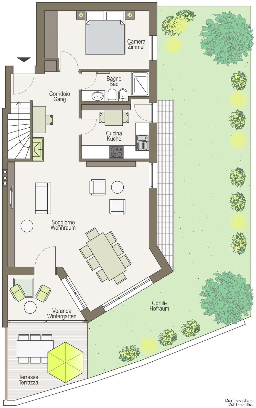 Piantina piano terra - Plan Erdgeschoss