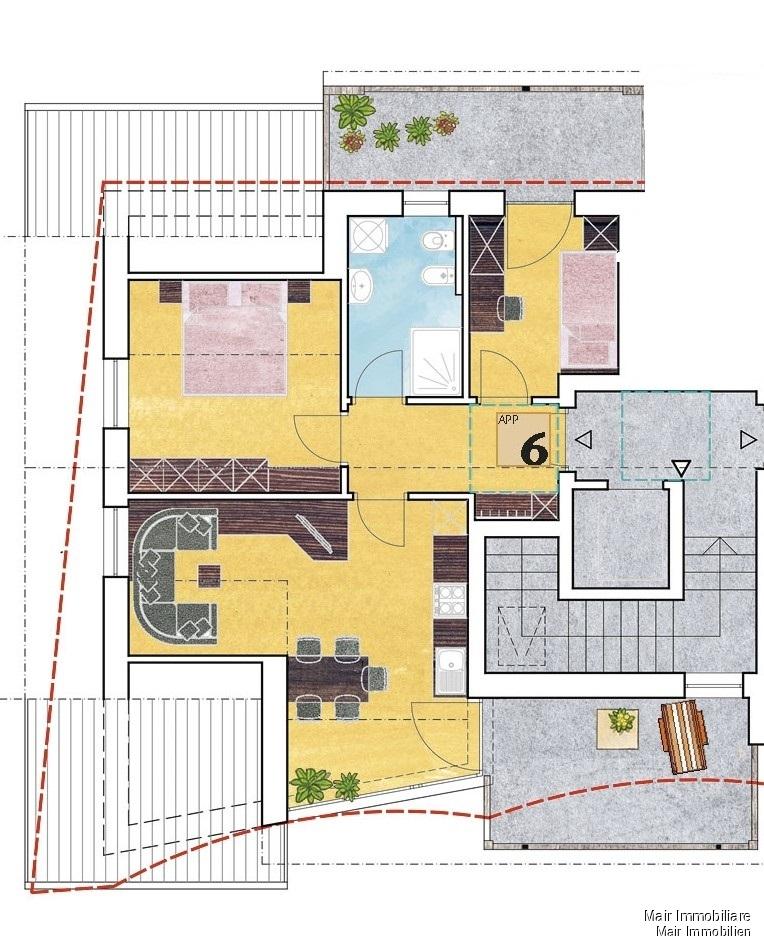Piantina app. n. 6 - Plan Wohnung Nr. 6