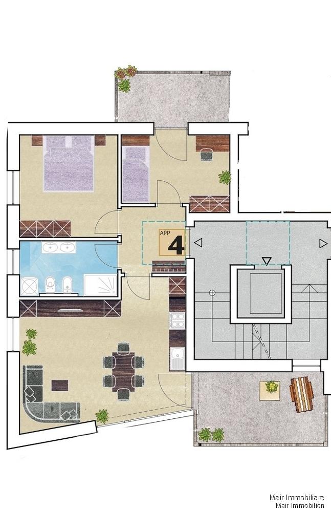 Piantina app. n. 4 - Plan Wohnung Nr. 4