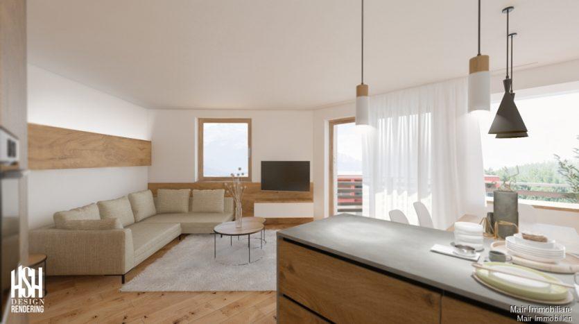 Rendering: Soggiorno - Wohnzimmer