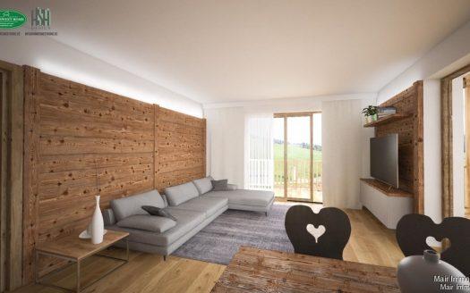 Rendering Wohnzimmer - Soggiorno