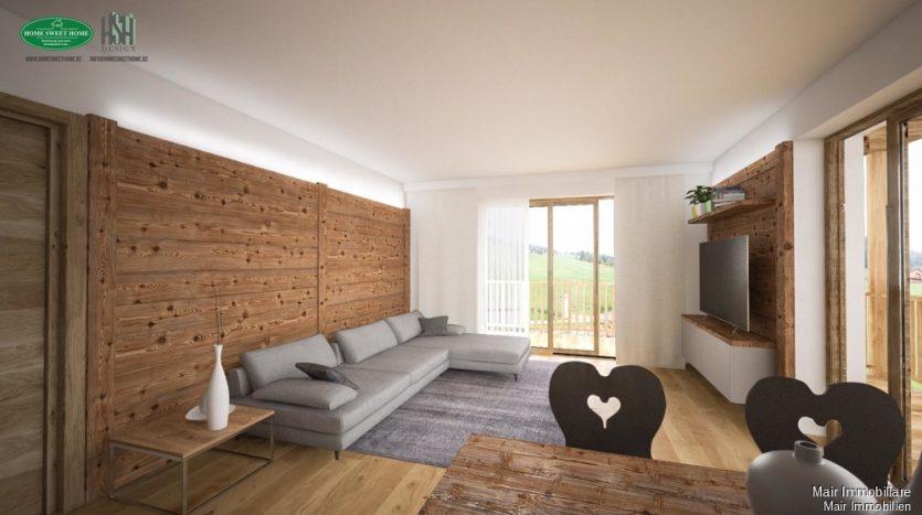 Rendering vom Wohnzimmer - Soggiorno